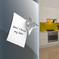 Wholesale 4pcs NINJA SHURIKEN Metal Fridge Magnets Sticker D Creative Star Refrigerator Magnet Darts Home Decoration