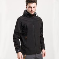Wholesale Shark skin soft shell ski wear big yards men s fleece the spring and autumn period and the leisure mountaineering coat outdoor clothing