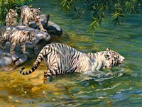 art lessons - Original US High tech HD Print Oil Painting Art On Canvas Donald Grant The Swimming Lesson x32inch Unframed
