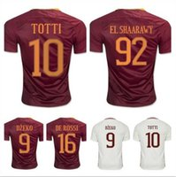 Wholesale Sales Thailand Quality ROMA Soccer Jersey home and away DZEKO TOTTI DE ROSSI EL SHAARAWY M SALAH Football shirs