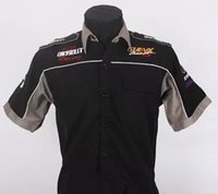 aftermarket services - F1 suits summer beauty work clothes aftermarket Chevrolet service team short sleeve shirt