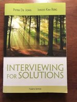 Wholesale Latest Book Interviewing for Solutions Books Psy Introduction to Psychotherapy Practice Fast DHL
