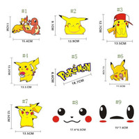Wholesale 30 Style Poke go team Sticker Instinc Mystic Valor Instinct camp Logo wall car pocket monster Pikachu Decal film iphone Sticker