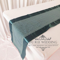 beautiful table design - 2016 Beautiful Design cm cm Teal Lace Table Runner A For Wedding And Party Decration