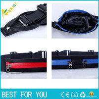 Wholesale Free Ship Body Wallet Money Belt Unisex Multi Function Outdoor Fitting Running Belt Chest Pouch Bum Waist Bag