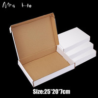 Wholesale Newly cm Cardboard Paper Package Gift White Paper Boxes Business Delivery Mailing Box PP780