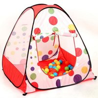 Wholesale Polka dots childern kids play tent house foldable kids toys tent kids play game house indoor pop up play tent birthday gift ZP36