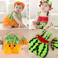 Wholesale Pure cotton summer baby jumpsuits years old boys and girls sleeveless infant clothing climb clothes Baby s One Piece Suits Baby Clothes