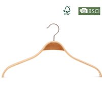 Wholesale Hotel Use Plywood Clothes Hanger Pack of