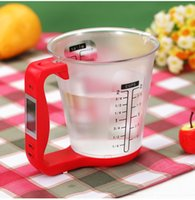 Wholesale Multifunctional Precise Electronic Digital Measuring Kitchen Cup Scale with LCD Display Temp Measurement g g lb lb