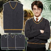 Wholesale Styles Harry Potter Cosplay Costume Gryffindor Slytherin Ravenclaw Hufflepuff Vest School Uniform Harry Sweater Waistcoat