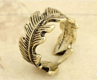 african sculptures - 20pcs vintage copper plated alloy trendy Sculpture angel Indian Feather Circle Surrounded rings for women men unisex Hot j182