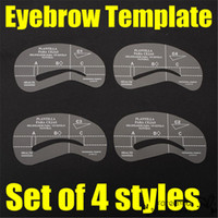 Wholesale 4pcs Eyebrow Stencil Kit Eye Brow Template Shape Plastic Makeup Beauty DIY Tools Style Make Up Accessories