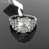 antique cushion diamond - Antique Edwardian ct Old Mine Cushion Cut Diamond Platinum Ring Size
