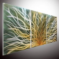 Wholesale Metal Wall Modern Contemporary Oil Painting Wall Art Metal Painting Wall Art METAL WALL ART Painting on Aluminum Metal Sculpture wall