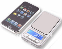 Wholesale 100pcs by dhl fedex g x g Digital Jewelry Scale for Phone design Pocket LCD Scales Electronic Weighing balance Scales