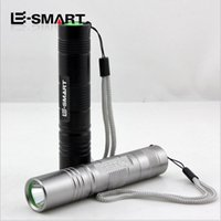 Wholesale Hot Sale Waterproof Mini Q5 W LED Flashlight Rechargeable Bright Light Aluminum Black or Gray Flashlight