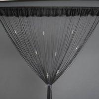 all'ingrosso beaded fringe-Schermo per porte e finestre in camera di cristallo divisori perline con rilievo della frangia della tenda della stringa della nappa Pannello Drape mosca cieca Home Decor