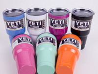 Wholesale Hot Bilayer Stainless Steel Insulation Cup OZ YETI Cups Cars Beer Mug Large Capacity Mug Tumblerful by world factory