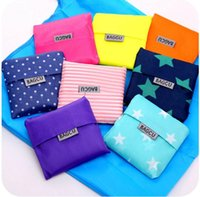 Wholesale Free Fedex DHL shipping New Fashion Foldable Waterproof Storage Eco Reusable Shopping Tote Bags Quality shopping bag pouch