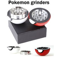 balls wholesalers available - Poke mon Grinders Parts mm Poke Ball PokeBall Grinders Zinc Alloy Plastic Herb Metal Grinders Colors Available