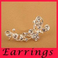 Wholesale South Korea Jewelry Ear butterfly diamond ear clips are long ear clip earrings unilateral special offer