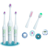 Wholesale Acoustic Wave Rotating Anti Slip Electric Toothbrush Soft Tooth Brush With Brush Heads Dental Care