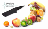 Wholesale tools Black Wallet Folding Safety Mini Pocket Knife Credit Card knife Tactical Rescue Knife