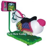 amusement park swing ride - 2016 New Indoor Amusement Park Equipment Coin Operated Video Games Machine Animal D Horse Racing Swing Kiddie Rides China