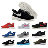 Wholesale Cheap Brand Roshe Run Running Shoes Women Men Classical Lightweight London Olympic Athletic Outdoor Sneakers Hot Sale Eur Size