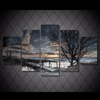 autumn scenery pictures - 5 Set Framed Printed Autumn scenery Painting Canvas Print room decor print poster picture canvas NY