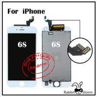 Wholesale For Iphone s quot or s LCD Display Touch screen digitizer assembly repair parts AAA Quality White or Black