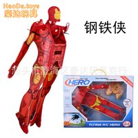 aircraft boarding - New HOT Boys Gift Spider man Remote Control Aircraft Flying R C Hero Iron man Superman KT board latest Mini gliders Toy