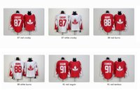 Wholesale Team Canada Crosby Burns Seguin White red Olympics World Cup Hockey Ice NHL Wear Jerseys Mix Order Free Drop Ship