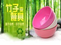 Wholesale New technology Bamboo fiber bowls healthy biodegradable recycled material Italy spaghetti macaroni rice soup bowl heat insulation ml