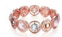 Wholesale Euramerican popularity rose gold bracelet fashion ideas set auger opal bracelet