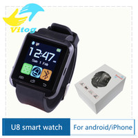 Wholesale 2016 Bluetooth Smartwatch U8 U Watch Smart Watch Wrist Watches for iPhone S S Samsung S4 S5 Note Note HTC Android Phone Smartphone