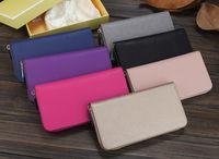Wholesale Second Skin Leather Women Wallet Clutch Long M Case Phone Carteiras Femininas Money Bag Purse Card Holder Vintage Famous Brand