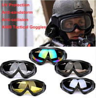 ansi glasses - Brand Goggles In stock X400 Windproof Ski Glasses Motorcycle Cycling Eyewear Airsoft Paintball Goggles UVA UVB ANSI Z87 Strandard