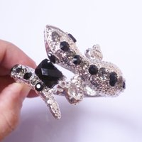 alloy animal bangle - Quality Silver Plated White Black CZ Resin Stone Rhinestone lizard Bangles Bracelets For Women Animal Jewelry Accessories K729