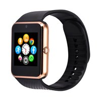 Wholesale 2016 New GT08 Smart Watch Clock Bluetooth Support Sim Card Sync Notifier Connectivity For apple Smartwatch Phone For IOS android OS
