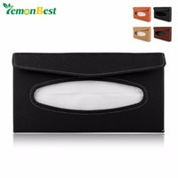 Wholesale Universal PU Car Tissue Box Sun Visor Tissue Dispenser Case Auto Accessories Decor