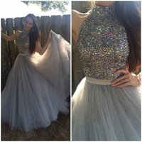 apple natural stone - 2016 new arrival New Romantic Prom Dresses Long Tulle Stone Evening Party Formal Gown Custom Size