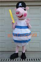 Wholesale High quality blue pink pig mascot costume mascot costume