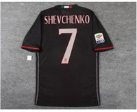 Wholesale 16 milan home player version soccer shirt MENEZ home player version shirt with patches