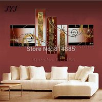 Wholesale Large Handmade Modern Oil Painting On Canvas Wall Art Top Home Decoration JYJZ031