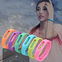 Wholesale Colorful Silicone Replacement Wrist Band Bracelet Wrist Strap Wristband Belt Protective Case For Xiaomi Smartband Mi Band Miband