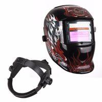 Wholesale Clear Stock Welding Helmet Death Auto Darkening Welding Helmet LCD filter ADF ARC TIG MIG Welder Lens Grinding Mask PP