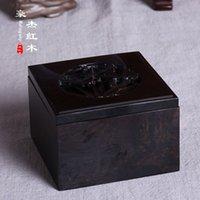Wholesale Wood carving crafts ebony carved bamboo incense burner box box