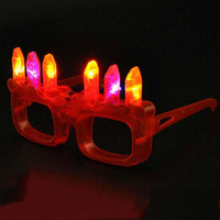 adult birthday candles - Adult Kids Birthday Candle Cake Glasses Light LED Flashing Blinking Eye G Birthday Party Supplies Festival Decoration Christmas Hollowen